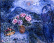 Marc Chagall - Couple aux pivoines à Vence