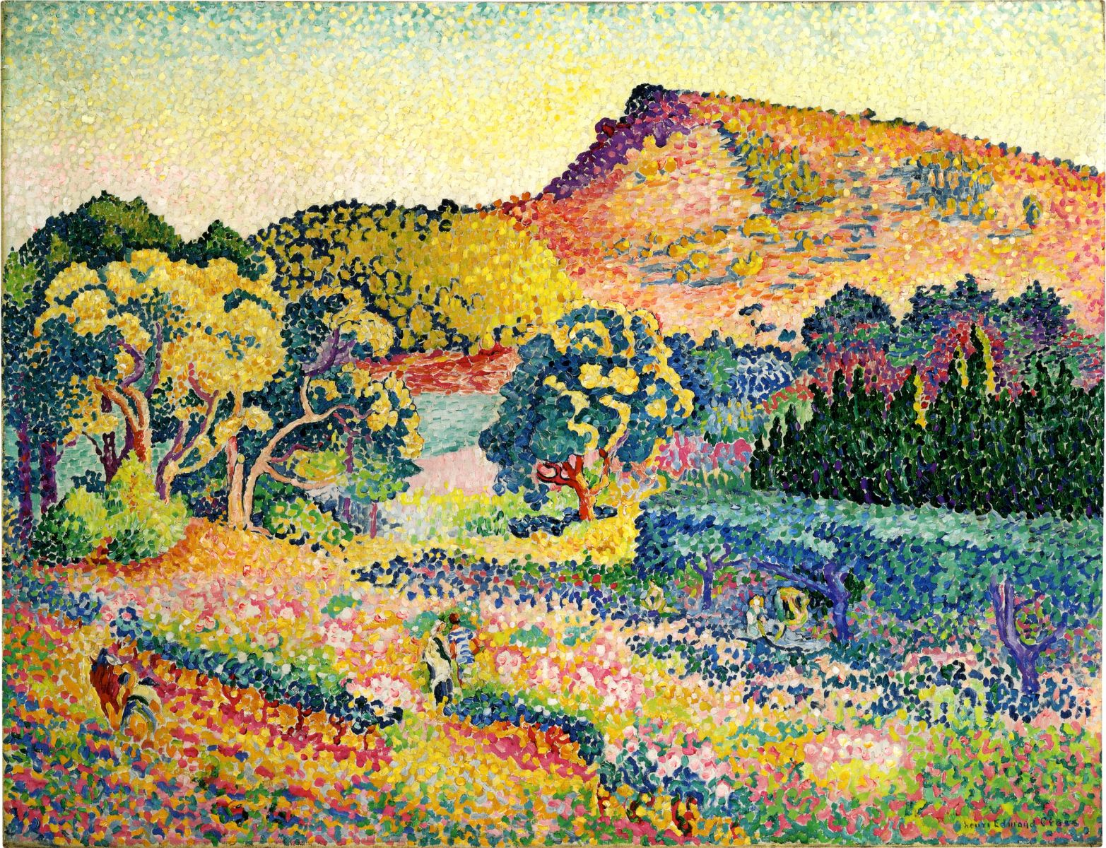 Henri Edmond Cross - Paysage avec le Cap Nègre