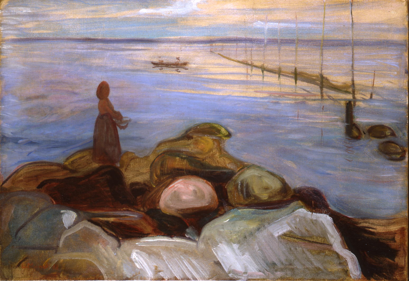Edvard Munch - Woman by the sea in Ǻsgårdstrand