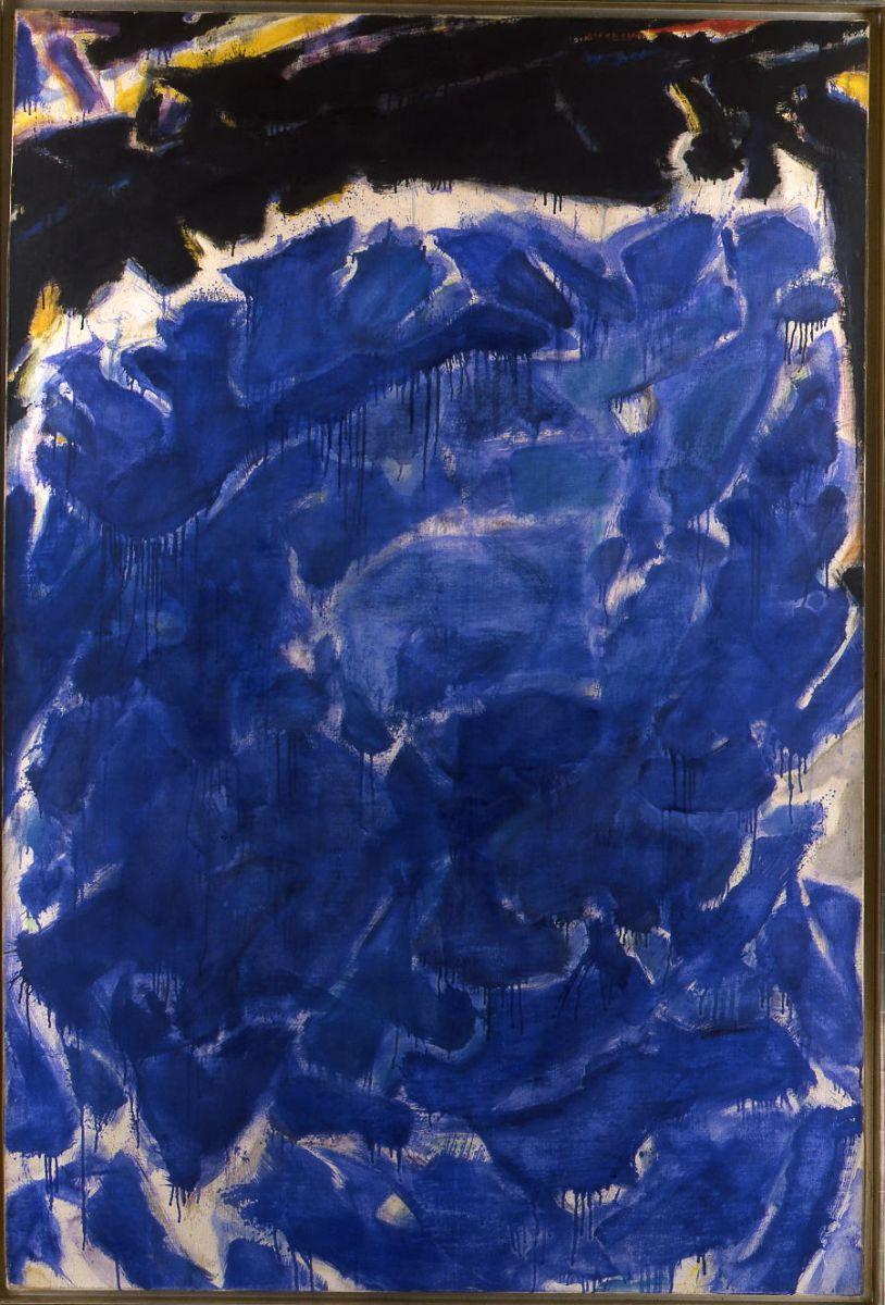 Sam Francis - Deep Blue and Black or Black Blue