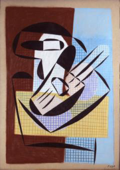 Pablo Picasso - Compotier et guitare