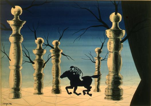 René Magritte - Le Jockey Perdu
