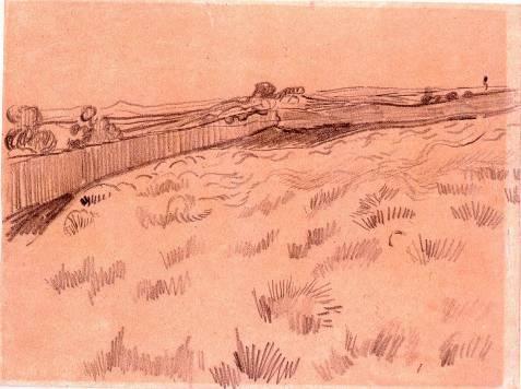 Vincent Van Gogh - Le champs de blé, Saint-Rémy