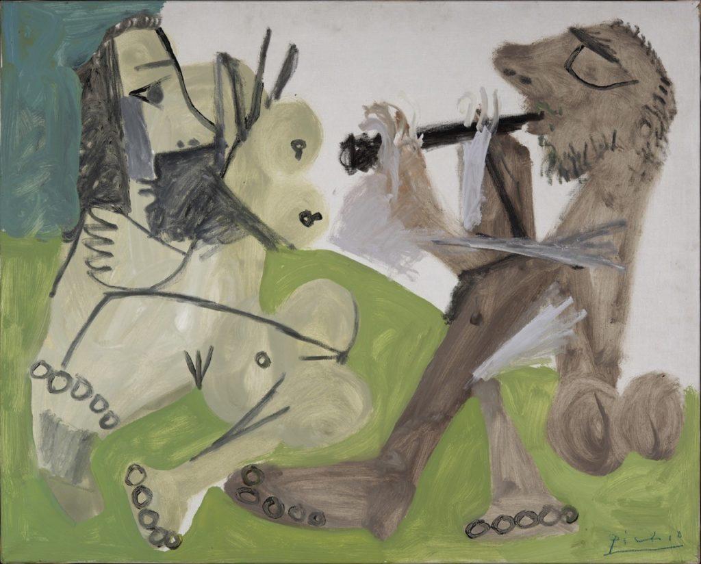 PABLO PICASSO - Nu et musicien assis, 1967 ©Succession Picasso 2020